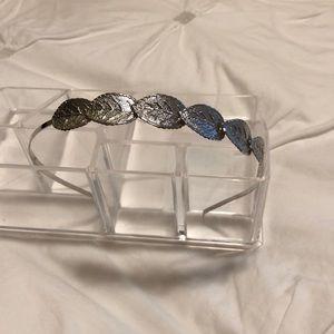 Silver leaves headband
